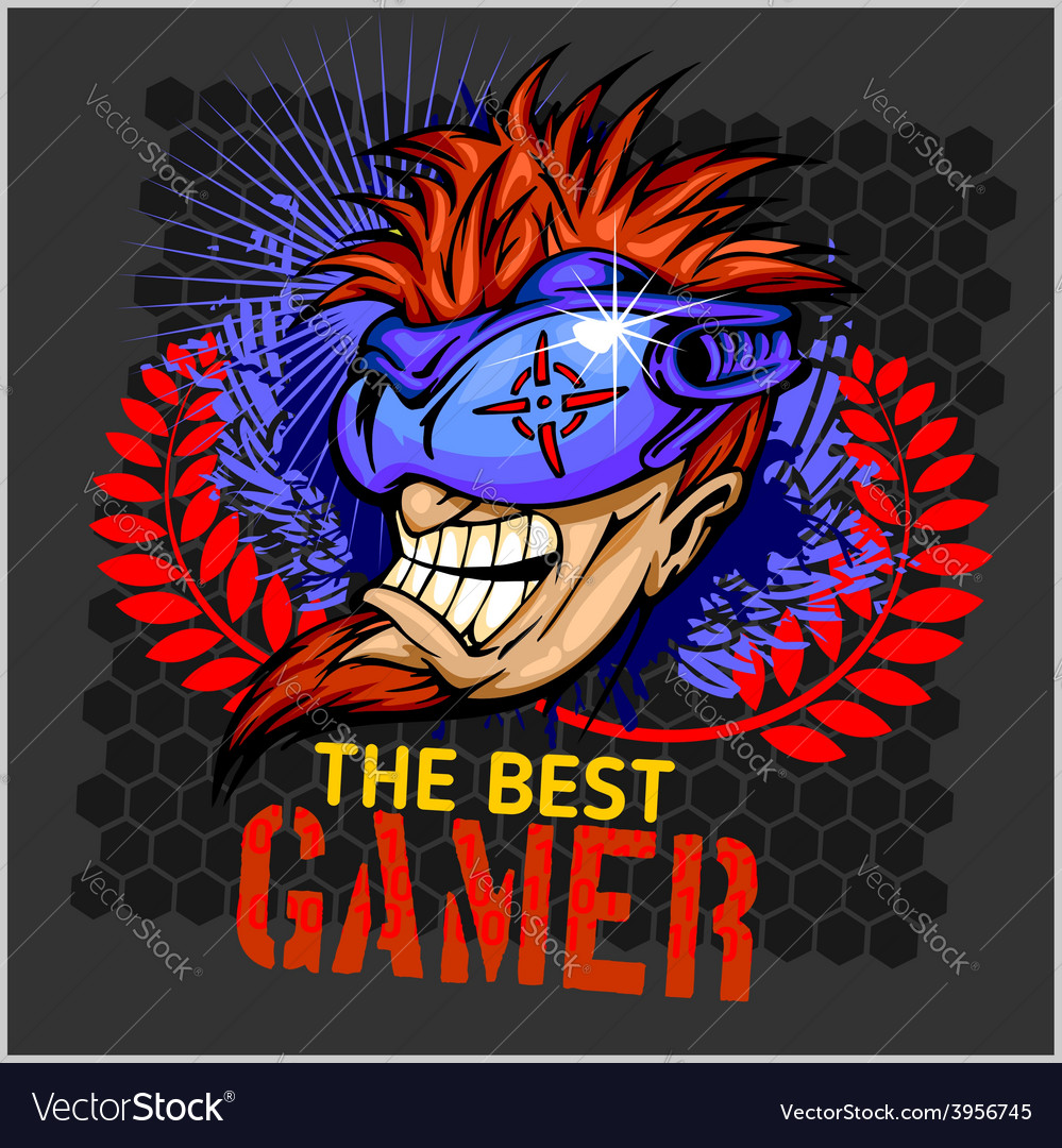 The best gamer - t-shirt design vector | Price: 3 Credit (USD $3)
