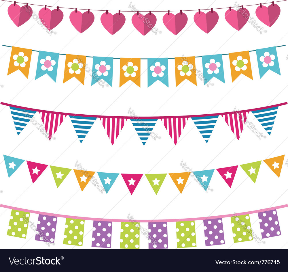 Bunting set vector | Price: 1 Credit (USD $1)