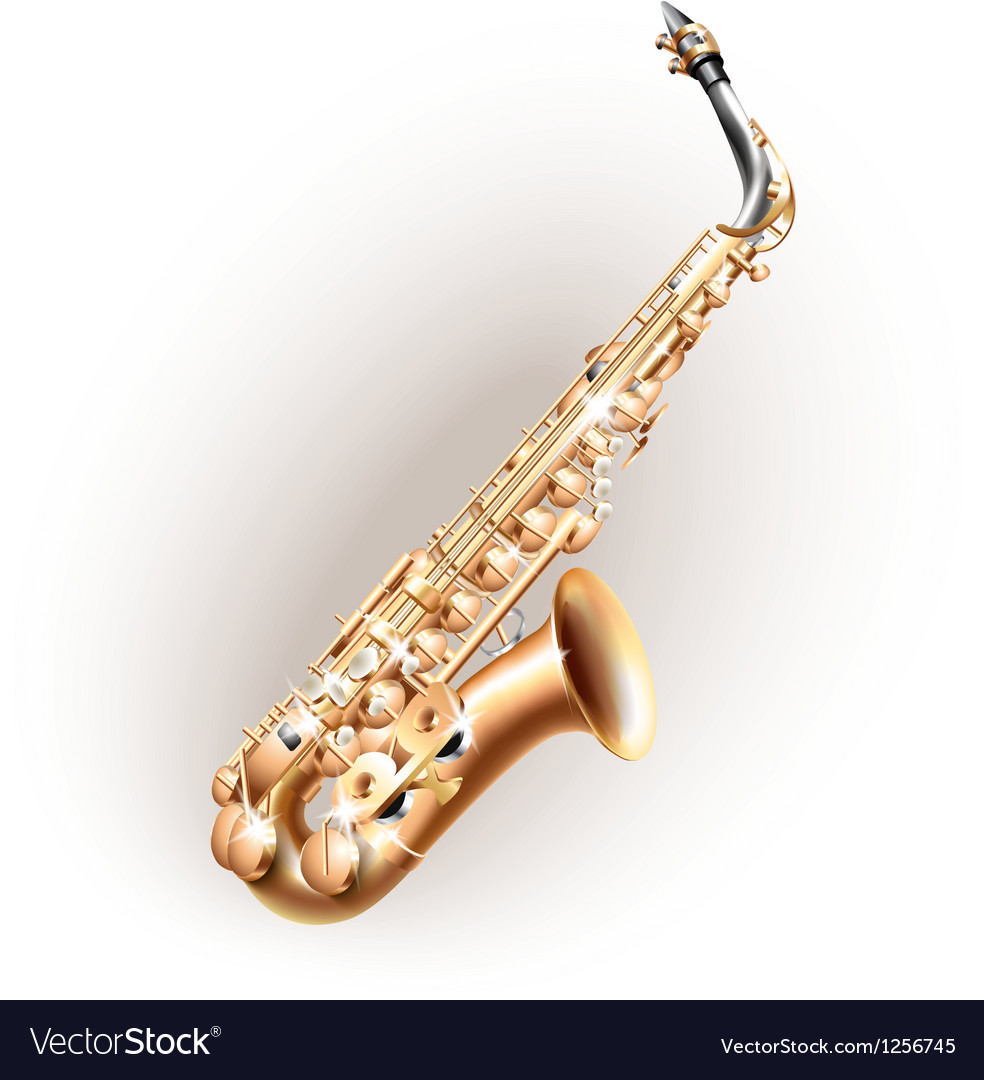 Classical saxophone alto vector | Price: 1 Credit (USD $1)
