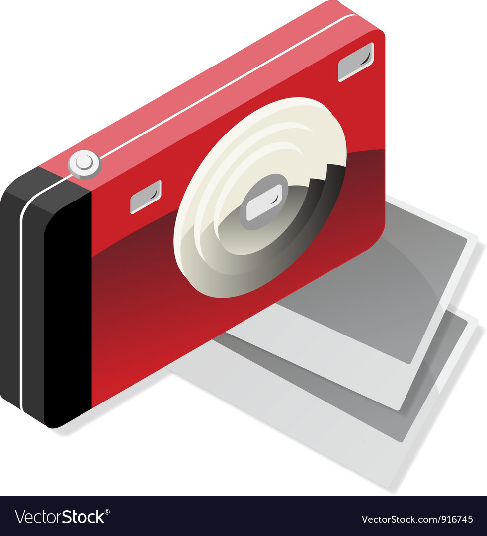 Red camera vector | Price: 3 Credit (USD $3)