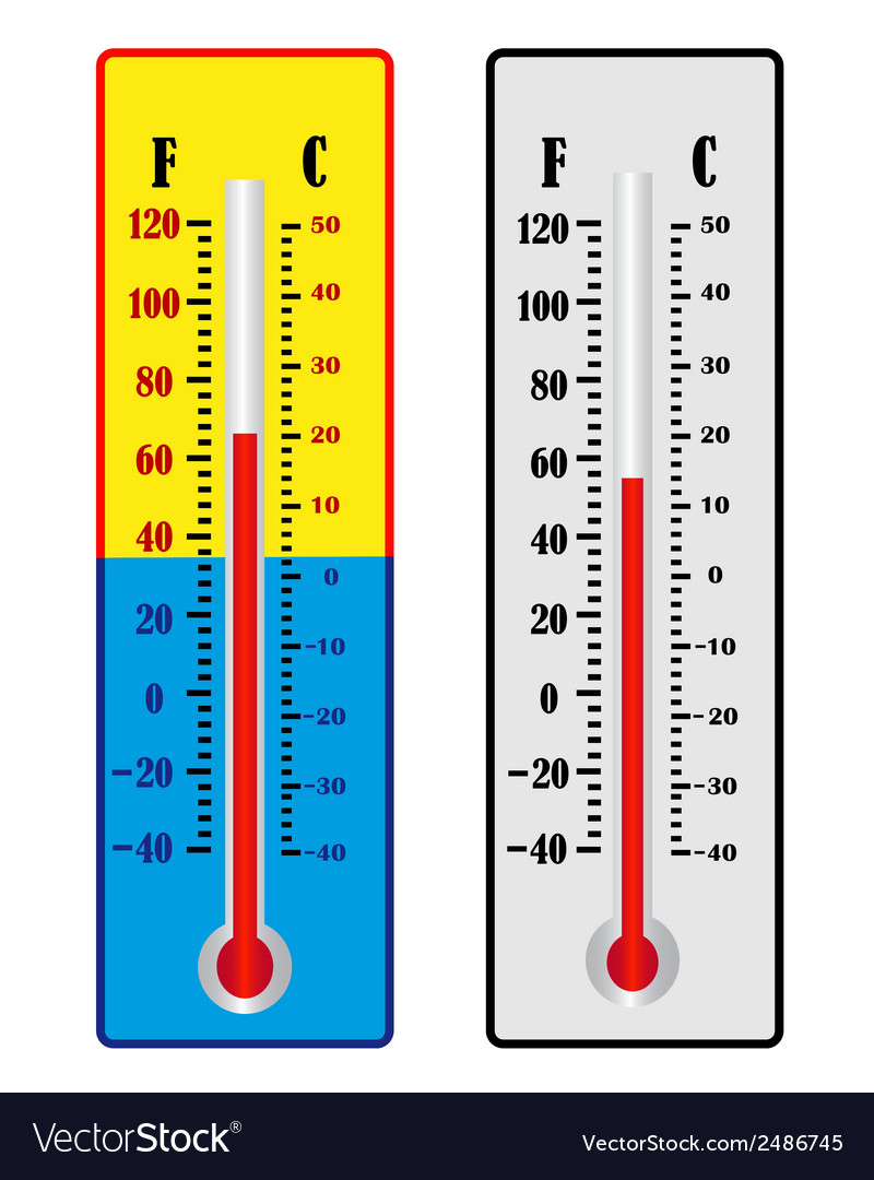 Two thermometer vector | Price: 1 Credit (USD $1)