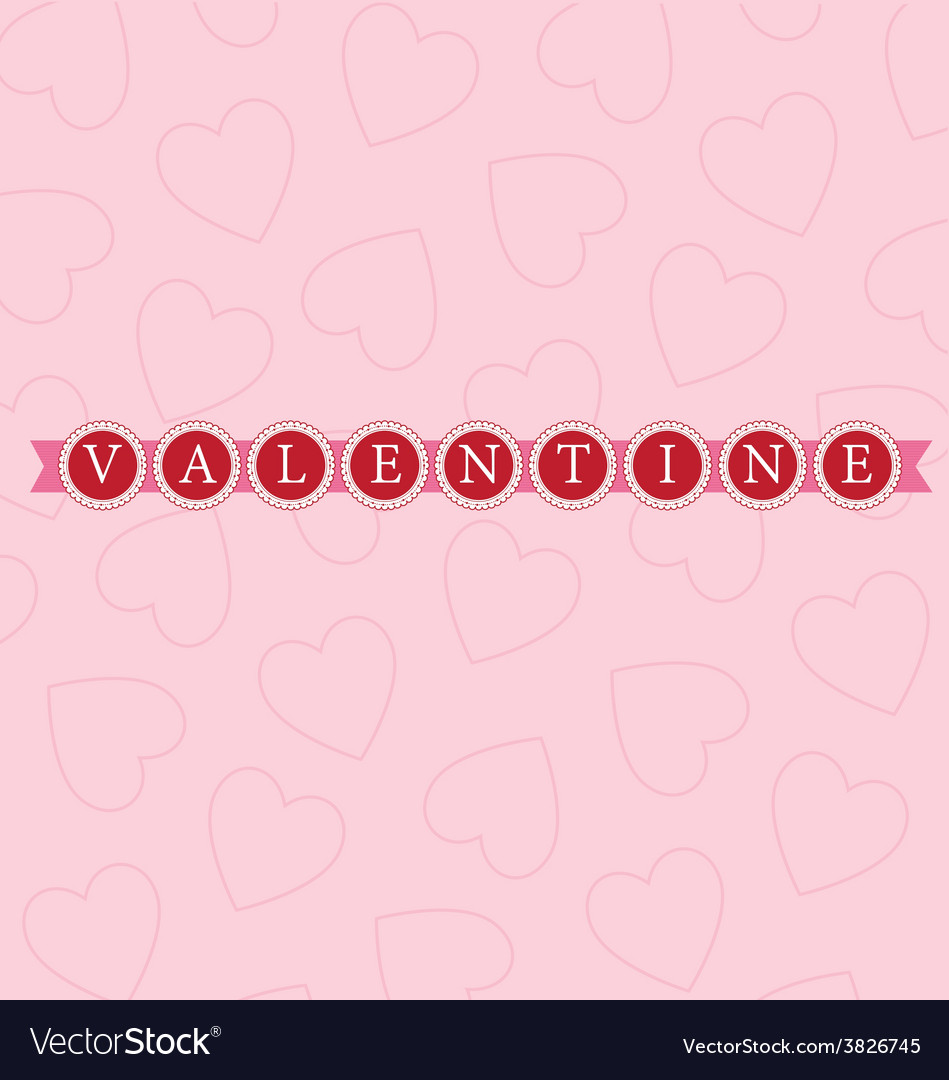 Valentine word circles bright vector | Price: 1 Credit (USD $1)