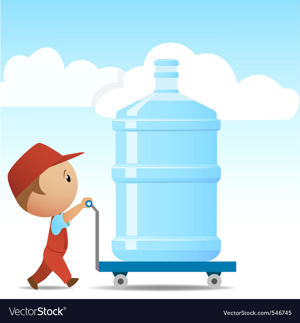 Water delivery man vector | Price: 3 Credit (USD $3)