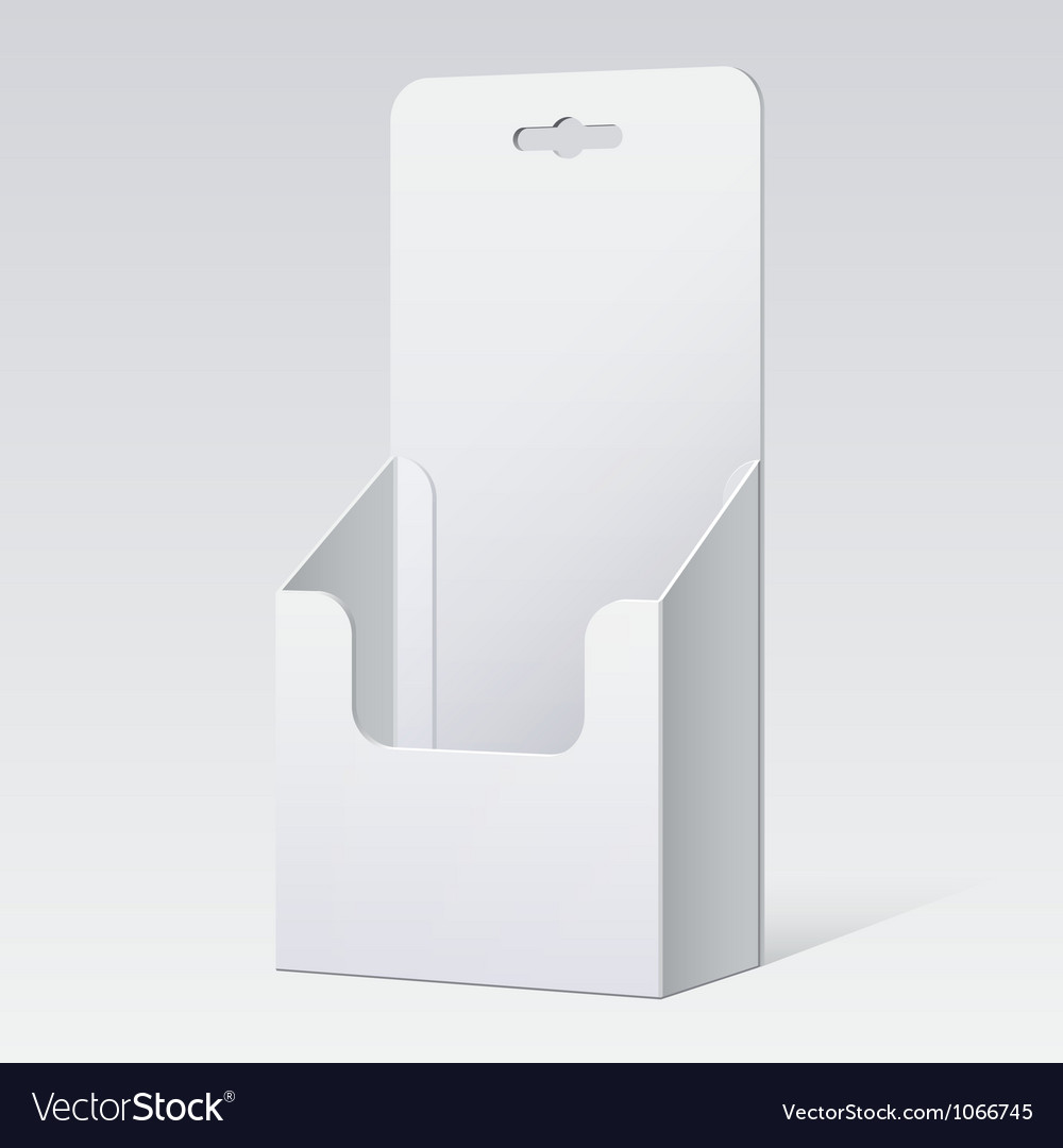 White cardboard holder for brochures and flyers vector | Price: 1 Credit (USD $1)