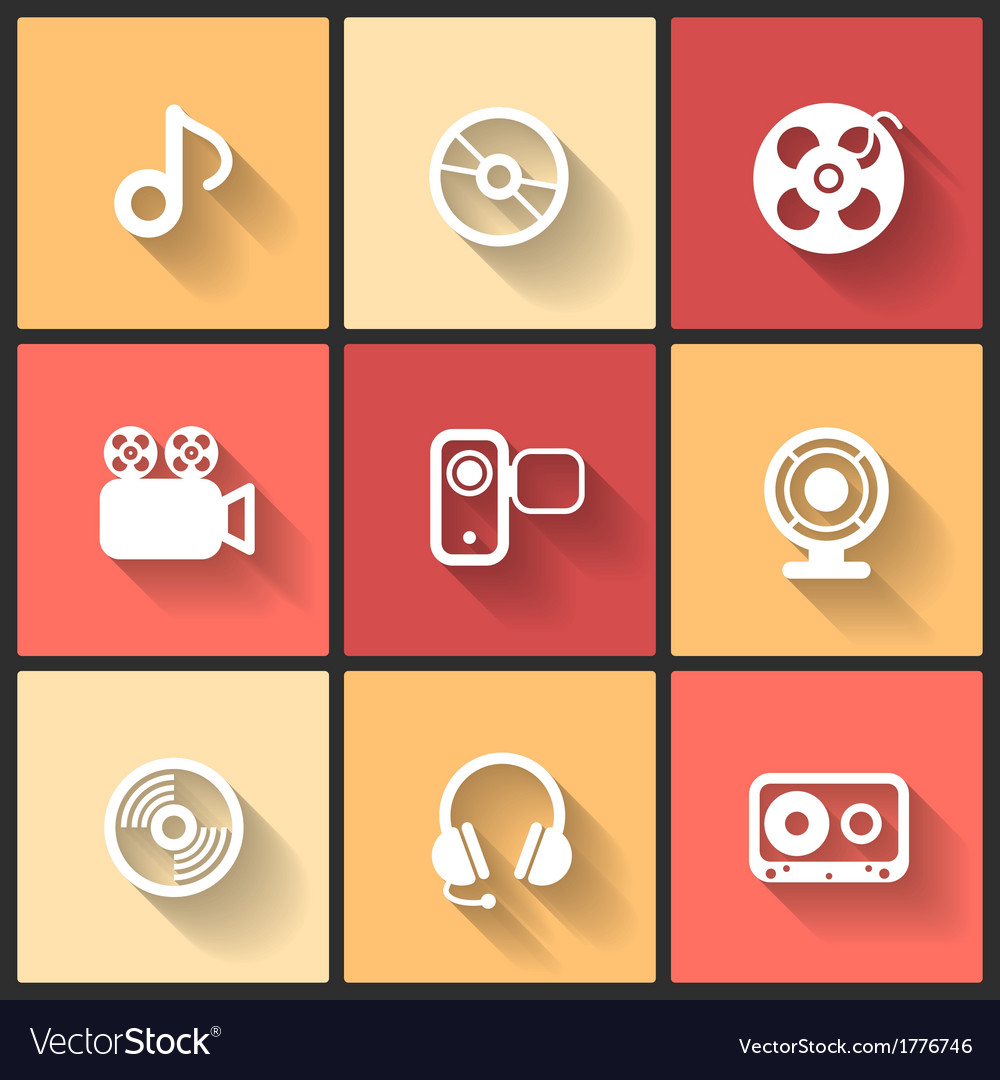 Design flat icons vector | Price: 1 Credit (USD $1)
