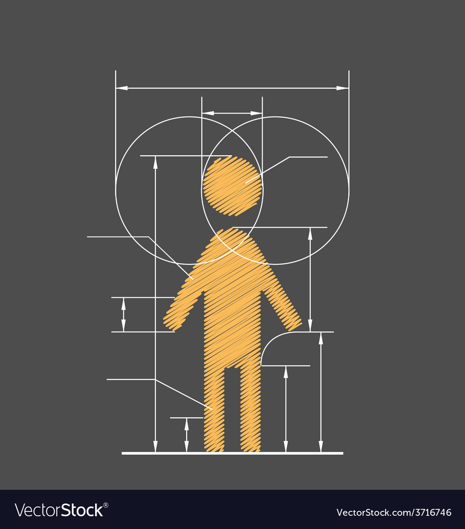 Drawing symbolized human resource isolated on gray vector | Price: 1 Credit (USD $1)