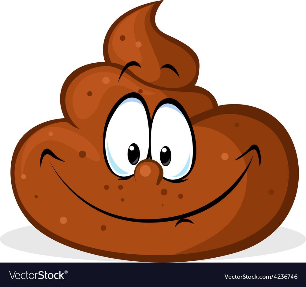 Funny poo cartoon - vector | Price: 1 Credit (USD $1)