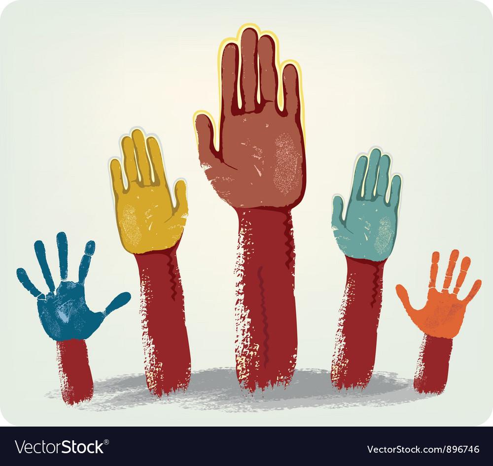 Voting hands vector | Price: 1 Credit (USD $1)