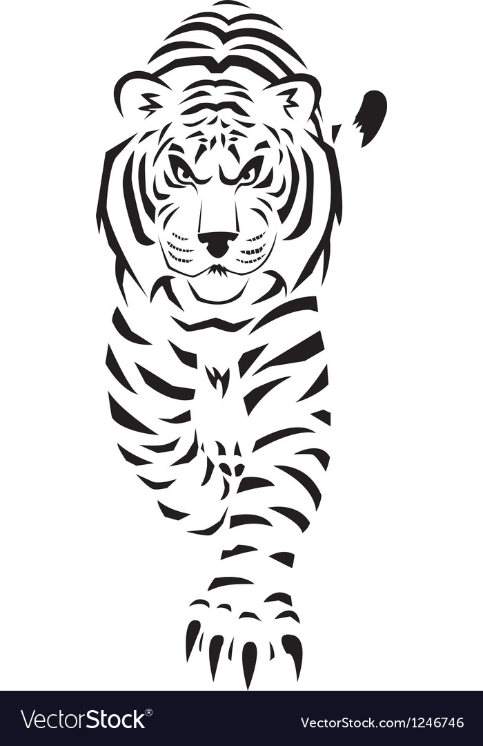 White tiger thumb vector | Price: 1 Credit (USD $1)
