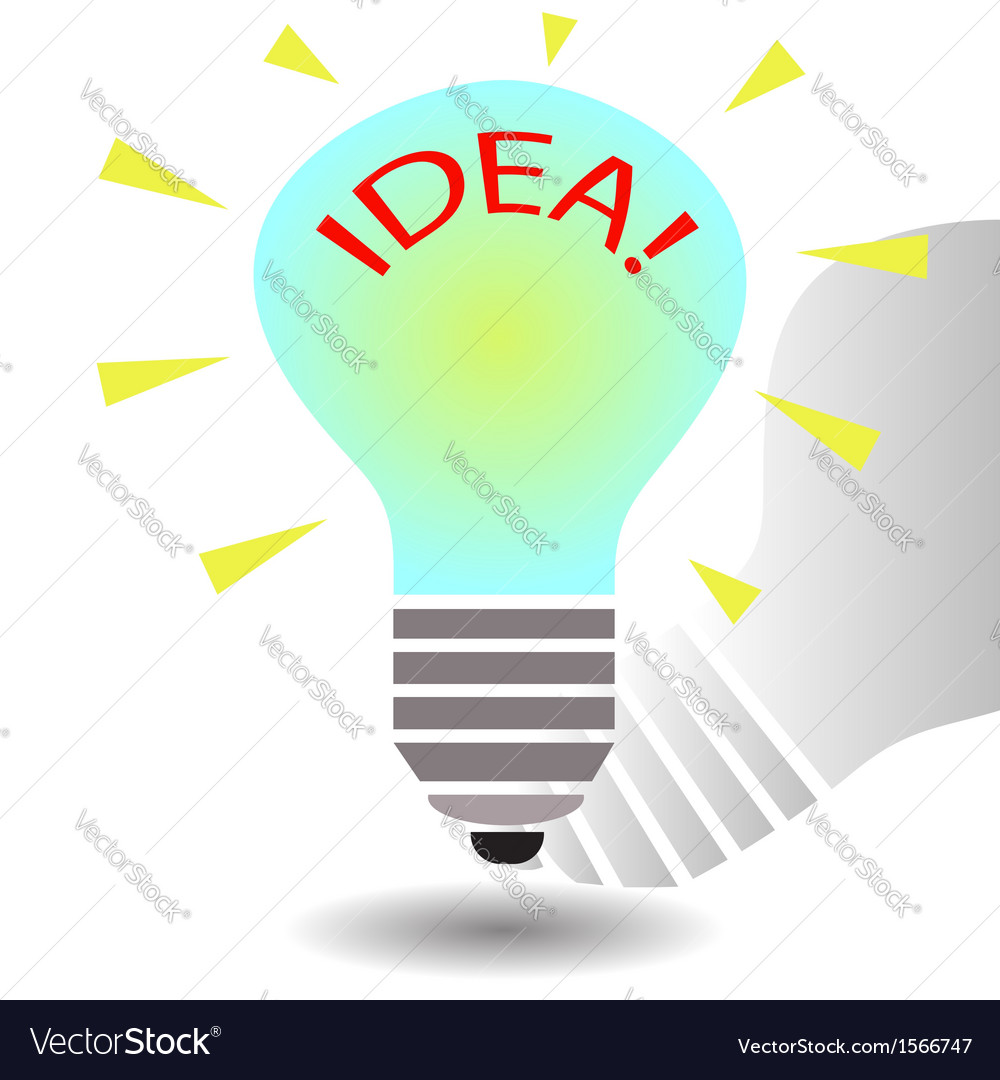 Bulb idea concept template vector | Price: 1 Credit (USD $1)