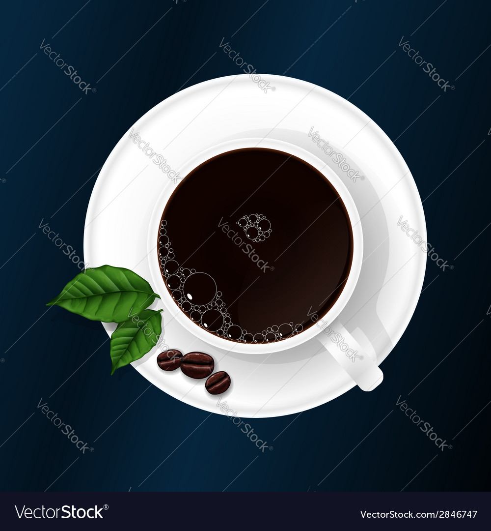 Cup with coffee vector | Price: 1 Credit (USD $1)