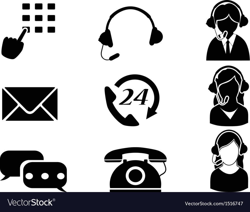 Customer service icon set vector | Price: 1 Credit (USD $1)