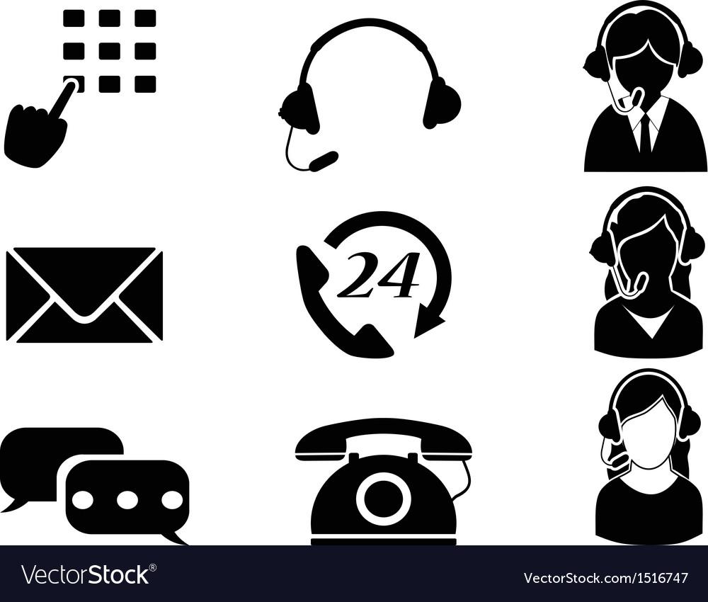 Customer service icon set vector | Price: 1 Credit (USD $1)