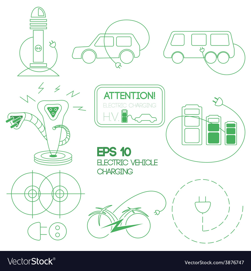 Electric car logo vector | Price: 1 Credit (USD $1)