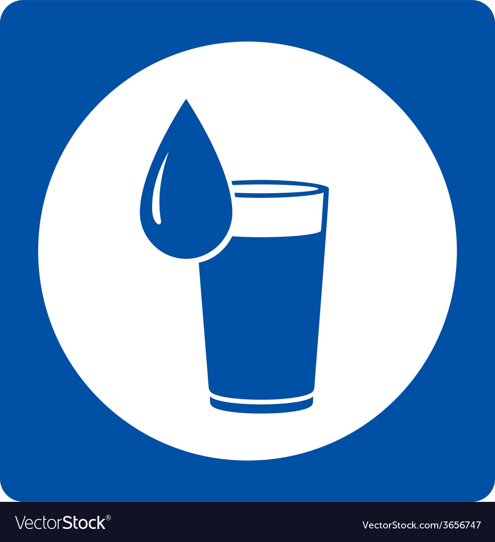 Icon with water drop and glass vector | Price: 1 Credit (USD $1)