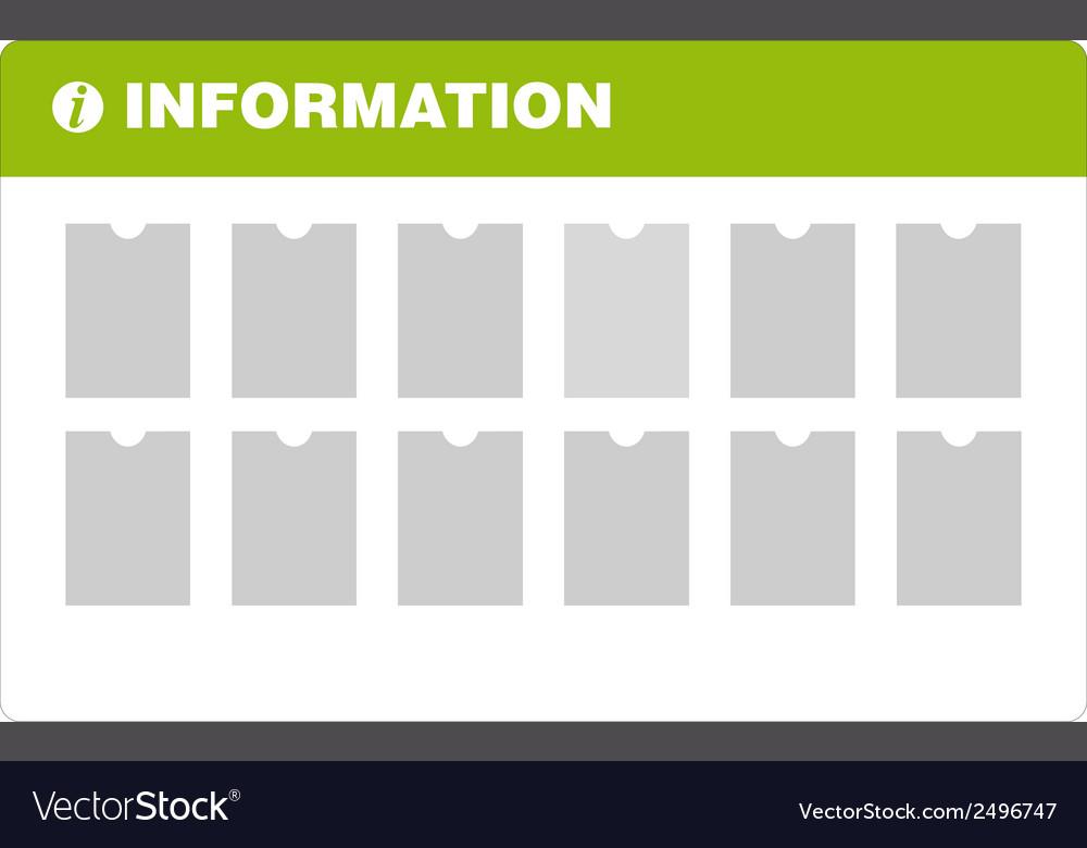 Information board vector   Price: 1 Credit (USD $1)