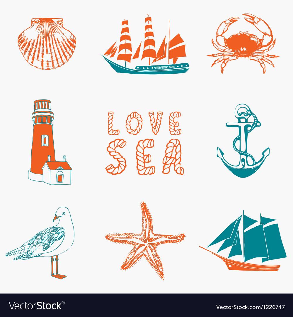 Marine background vector | Price: 1 Credit (USD $1)