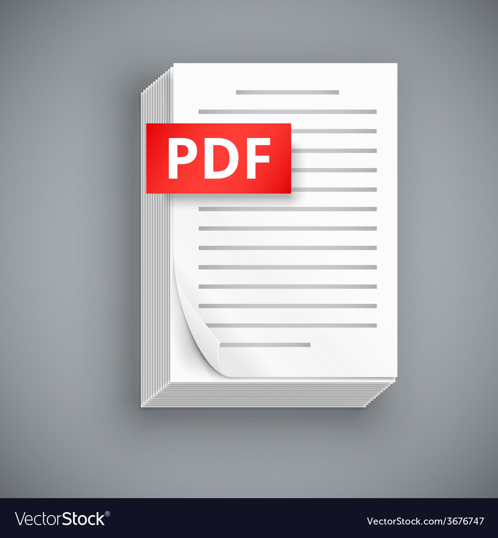 Pdf paper sheet icons vector