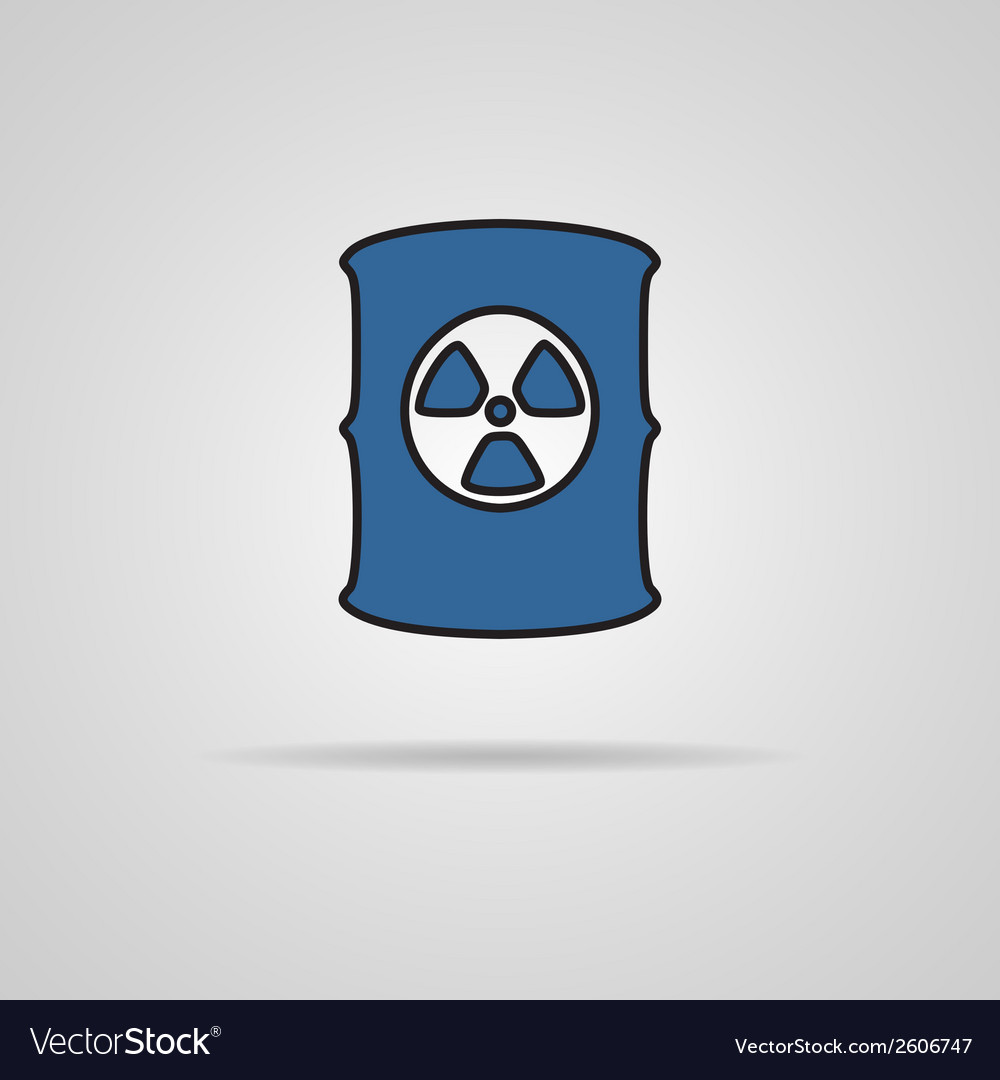 Radioactive waste barrel vector | Price: 1 Credit (USD $1)