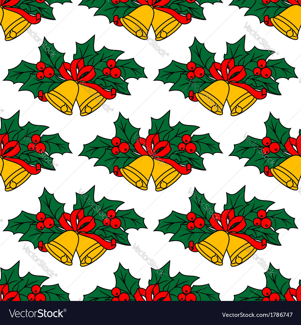 Seamless pattern with christmas bells vector | Price: 1 Credit (USD $1)