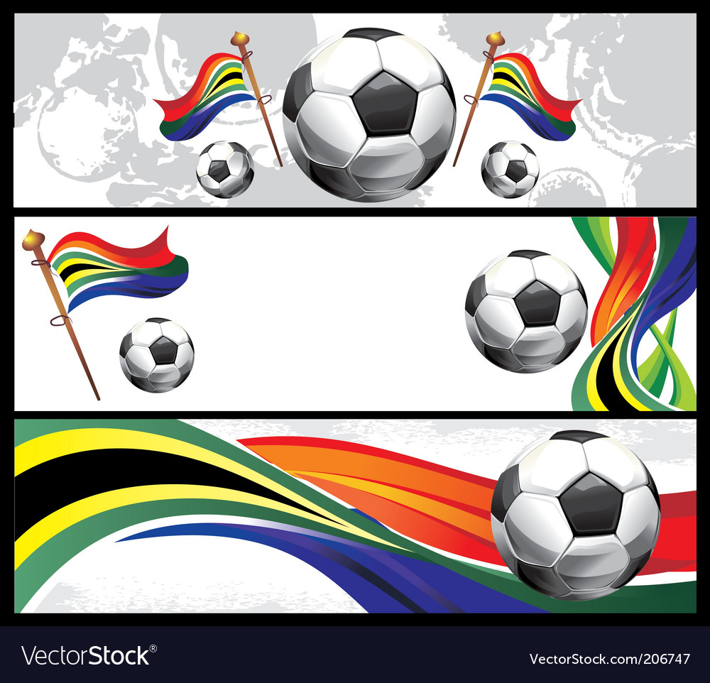 Set of football banners vector | Price: 1 Credit (USD $1)