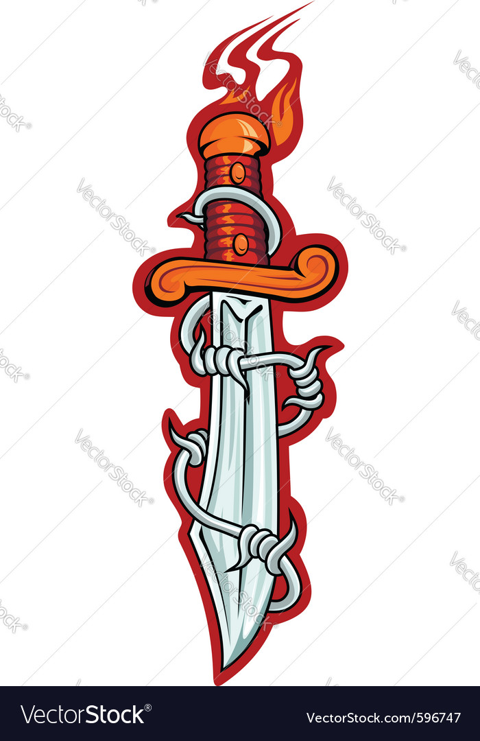 Sharp dagger vector | Price: 3 Credit (USD $3)