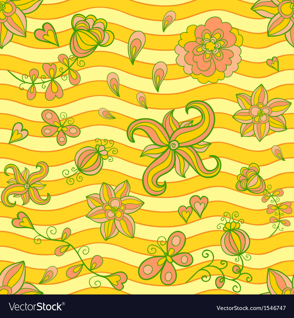 Summertime seamless pattern vector | Price: 1 Credit (USD $1)