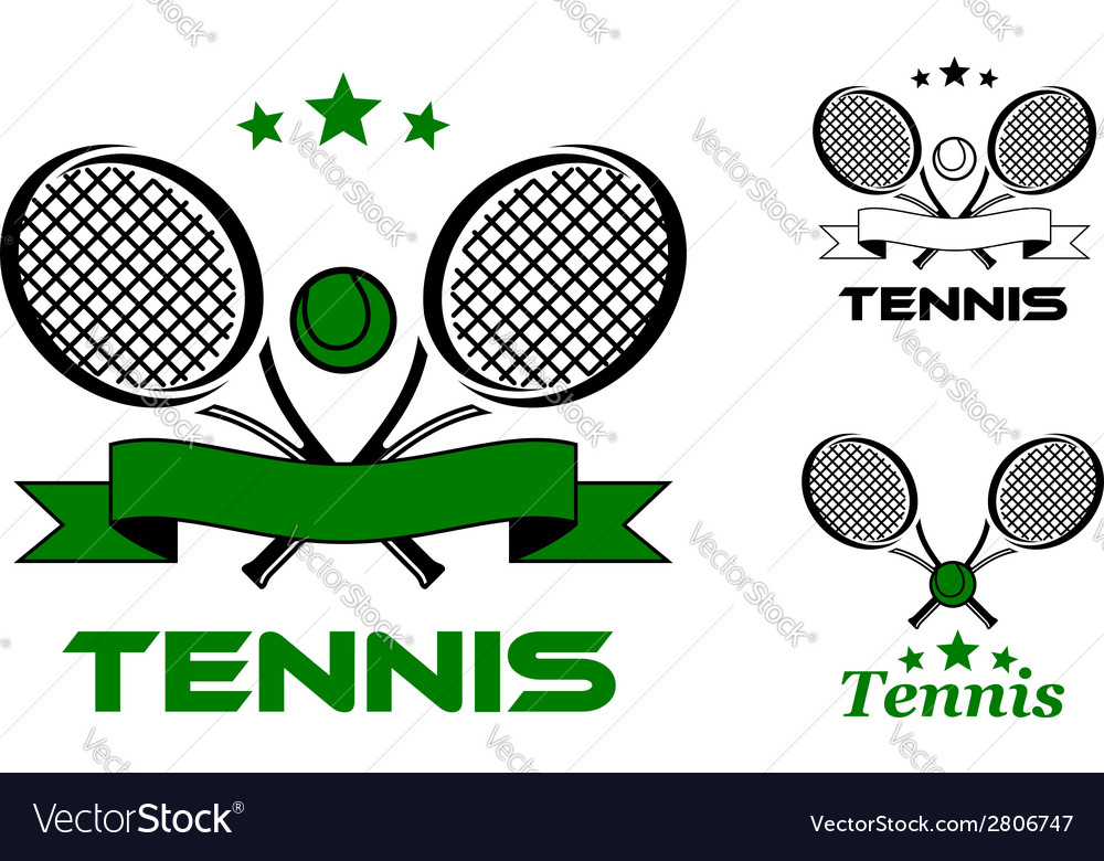 Tennis sport badges and emblems vector | Price: 1 Credit (USD $1)