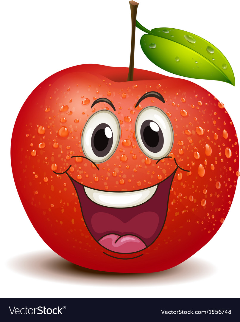 A smiling apple vector | Price: 3 Credit (USD $3)