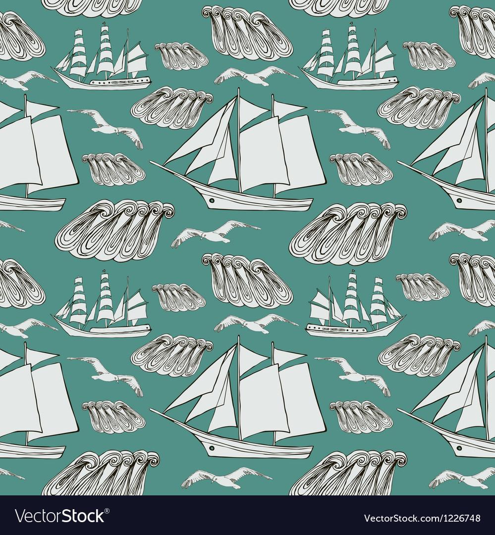 Decorative sea background vector | Price: 1 Credit (USD $1)