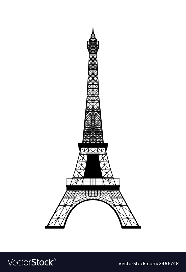 Eiffel tower silhouette vector | Price: 1 Credit (USD $1)
