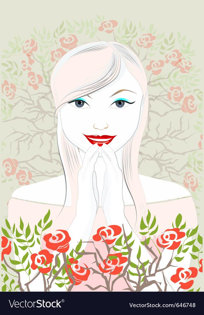 Happy bride vector | Price: 3 Credit (USD $3)