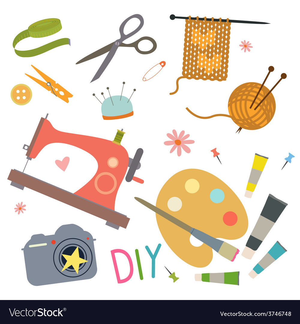 Hobby tools set vector | Price: 1 Credit (USD $1)