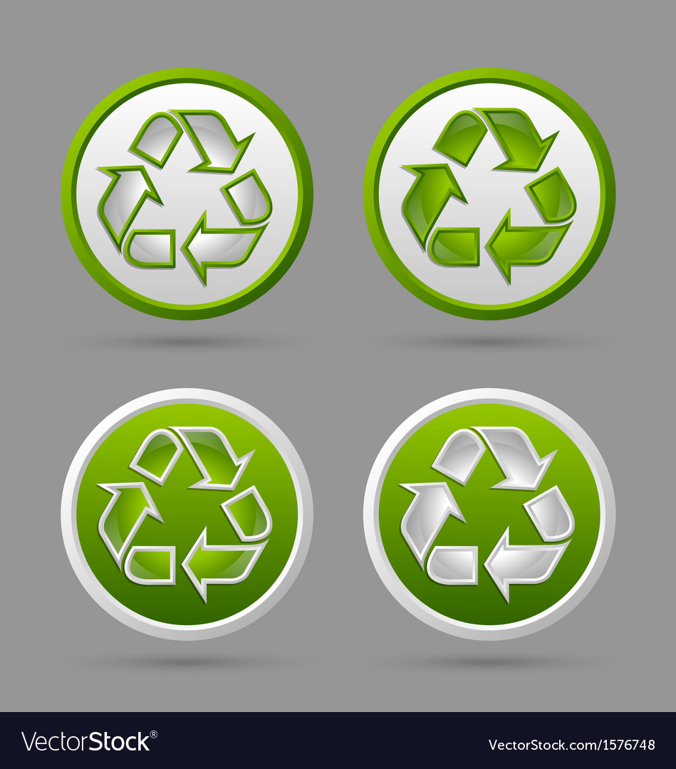 Recycle symbol badges vector | Price: 1 Credit (USD $1)