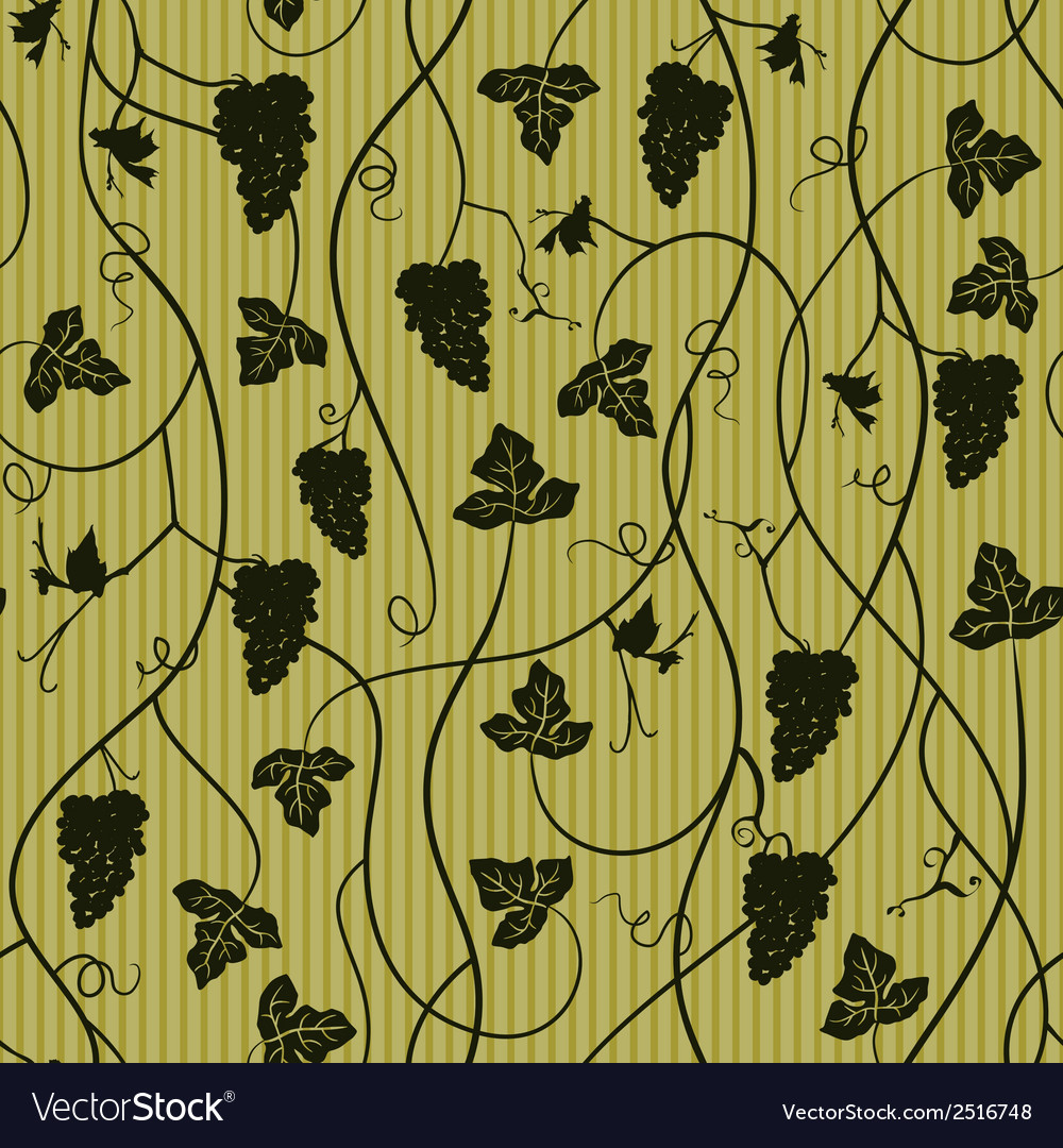 Seamless pattern wallpaper background with grapes vector | Price: 1 Credit (USD $1)
