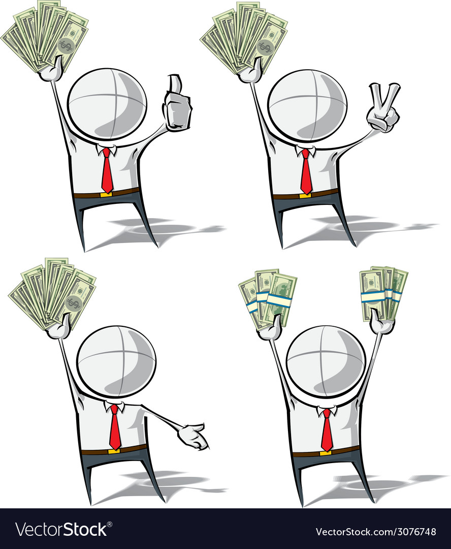 Simple business people money vector | Price: 1 Credit (USD $1)