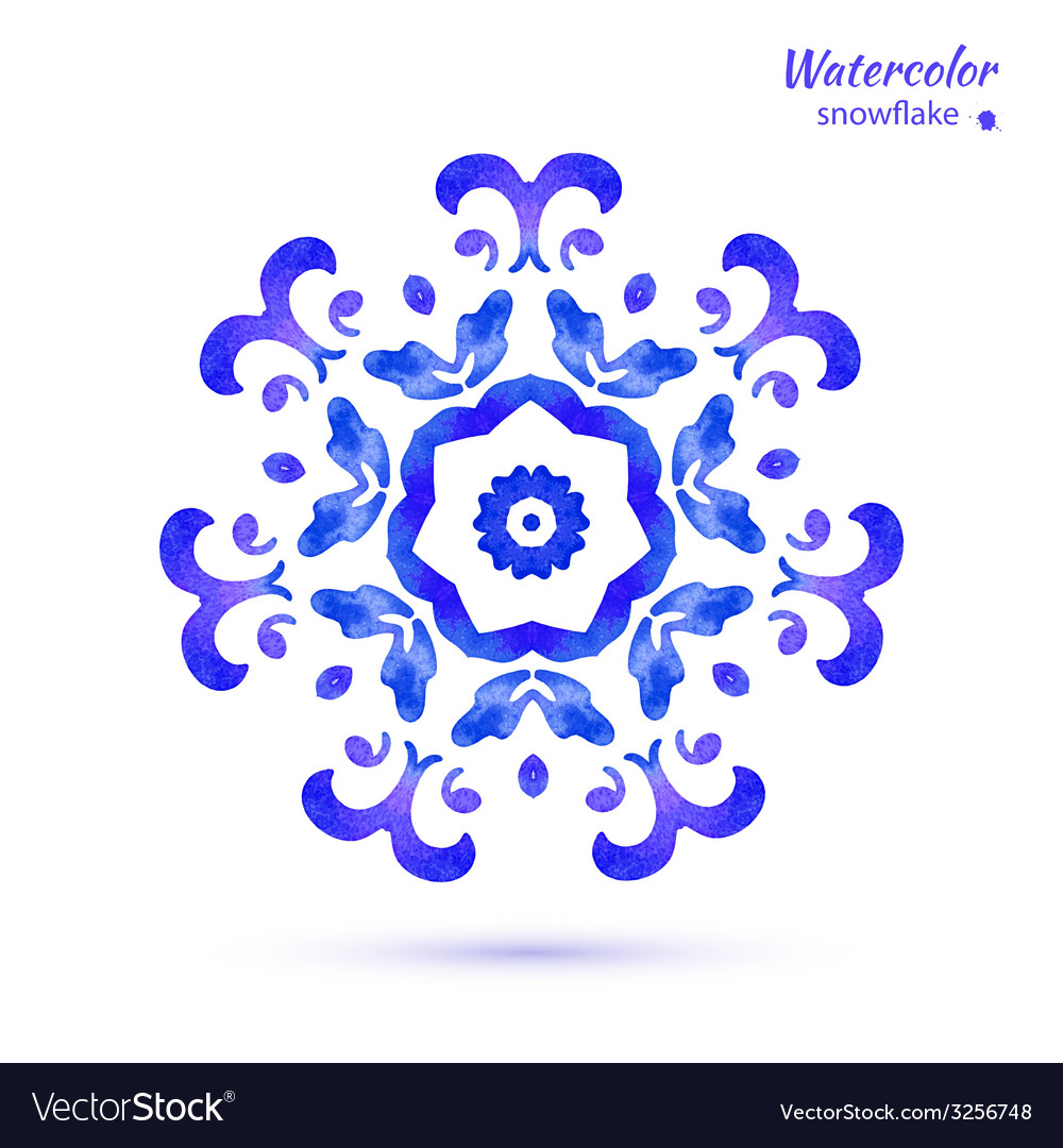 Snowflake flower folk style vector | Price: 1 Credit (USD $1)