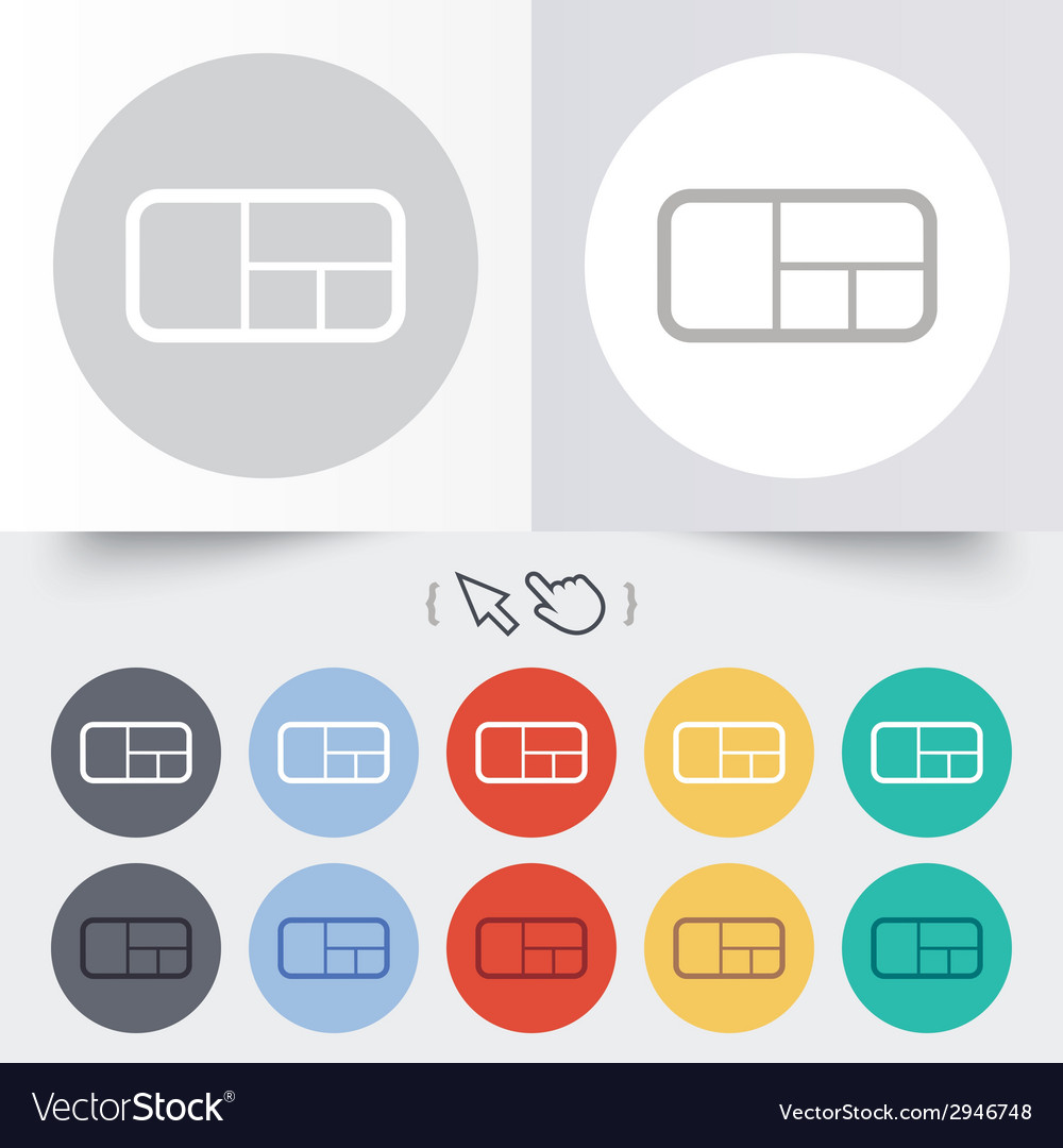 Stand sign icon modern furniture symbol vector | Price: 1 Credit (USD $1)