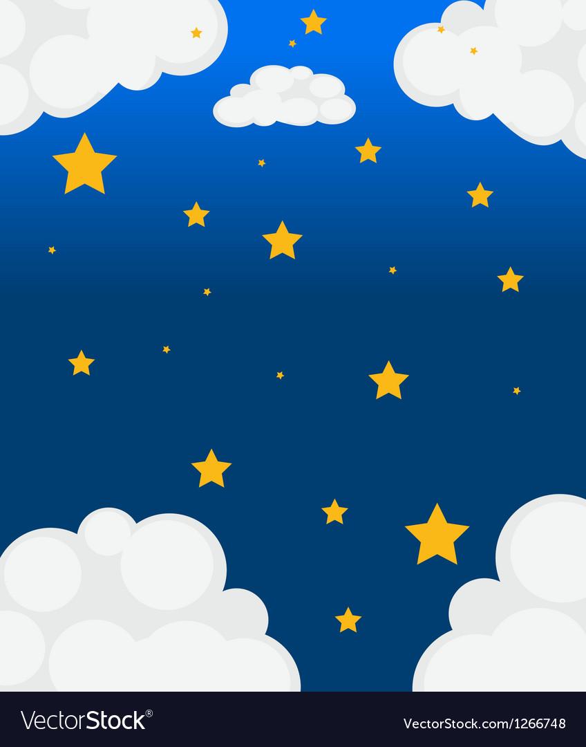 Stars in the sky vector | Price: 1 Credit (USD $1)