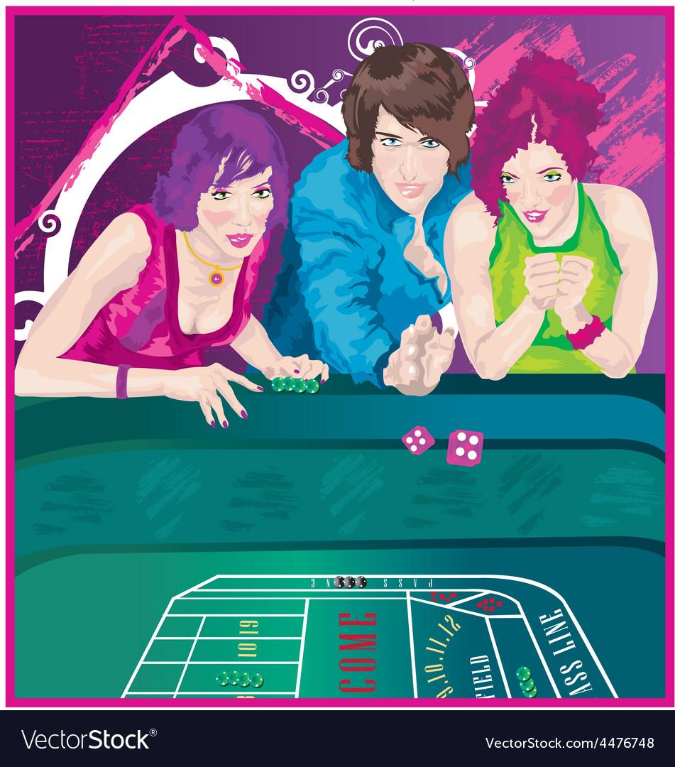 Woman at casino vector | Price: 1 Credit (USD $1)