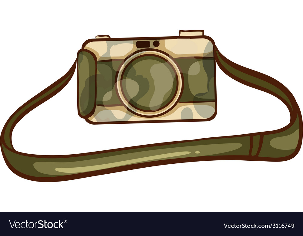 A coloured sketch of a photographers camera vector | Price: 1 Credit (USD $1)