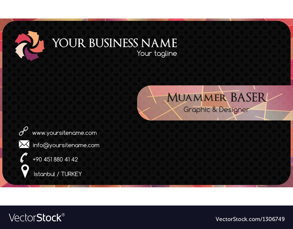 Abstract colorful business card vector | Price: 1 Credit (USD $1)
