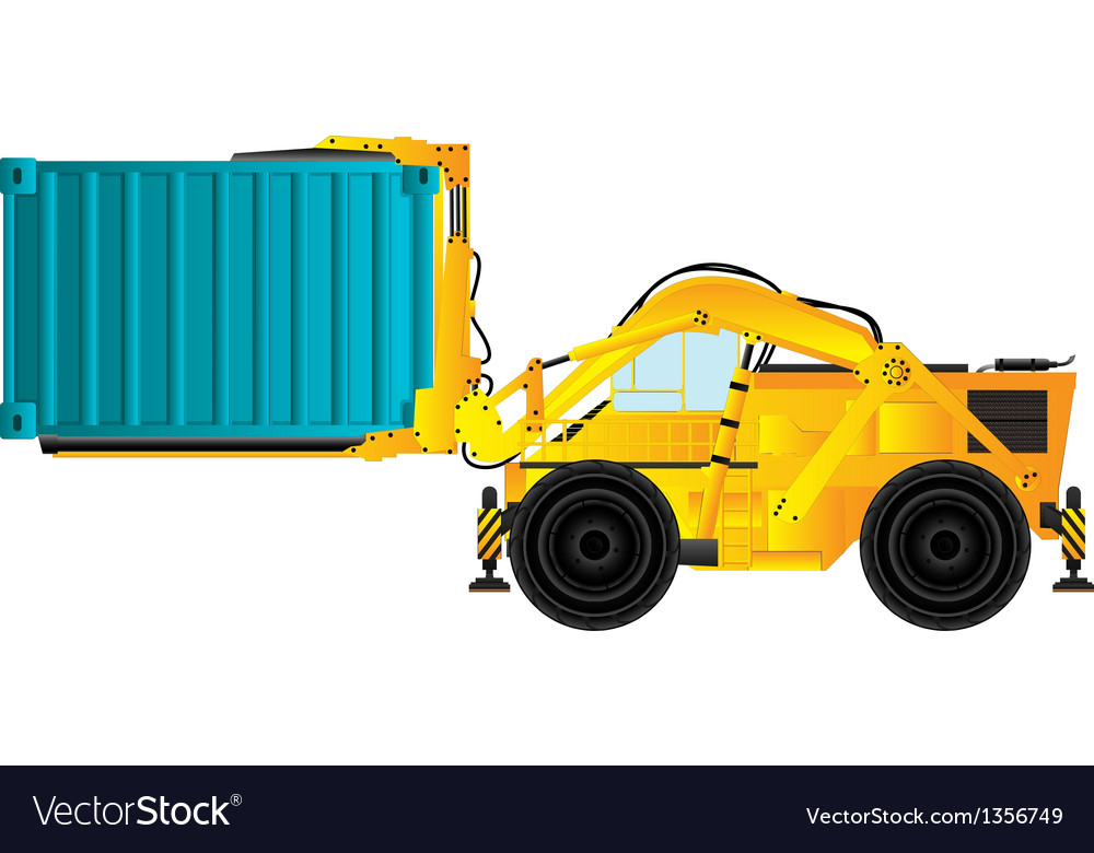 Container handler forklift vector | Price: 1 Credit (USD $1)