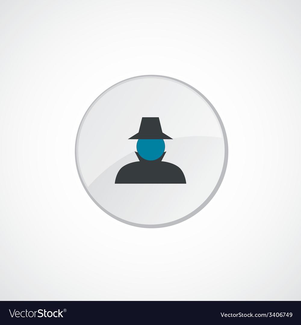 Detective icon 2 colored vector | Price: 1 Credit (USD $1)