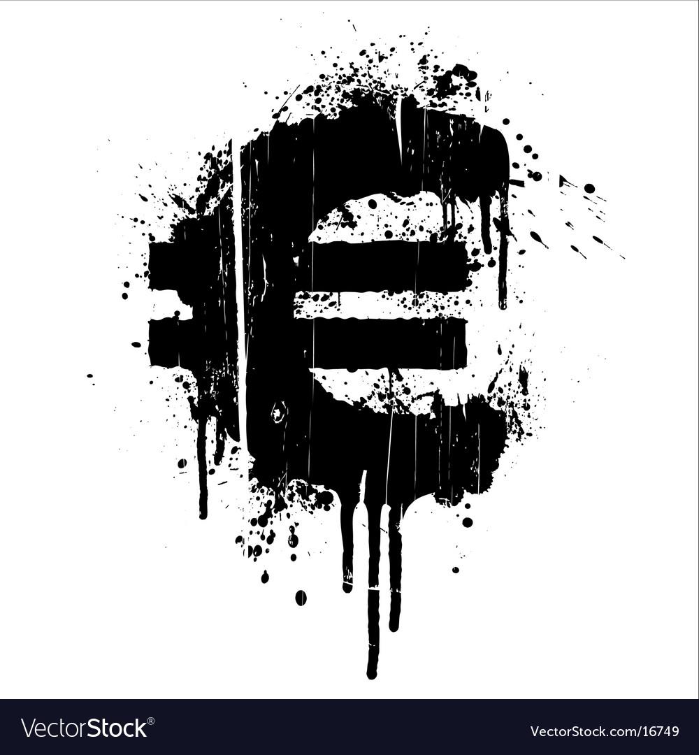 Euro splatter design element vector   Price: 1 Credit (USD $1)