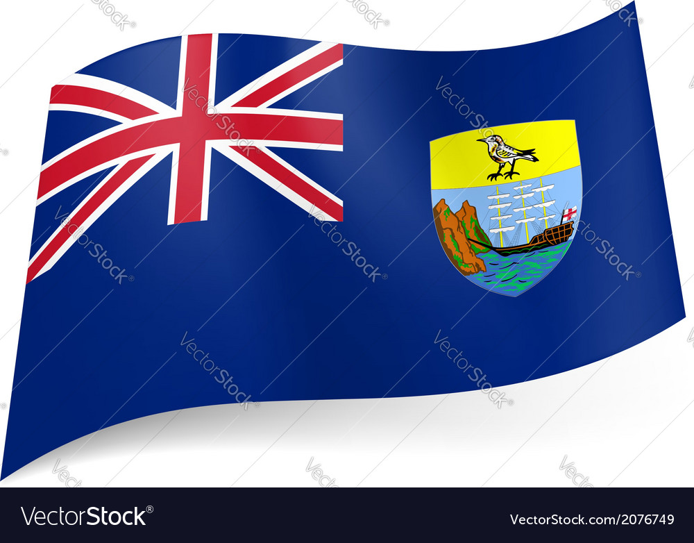 Flag of saint helena ascension and tristan da vector | Price: 1 Credit (USD $1)