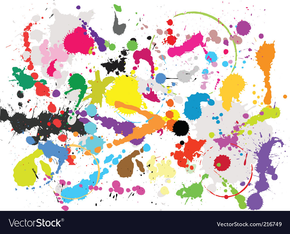 Grunge paint splats vector | Price: 1 Credit (USD $1)