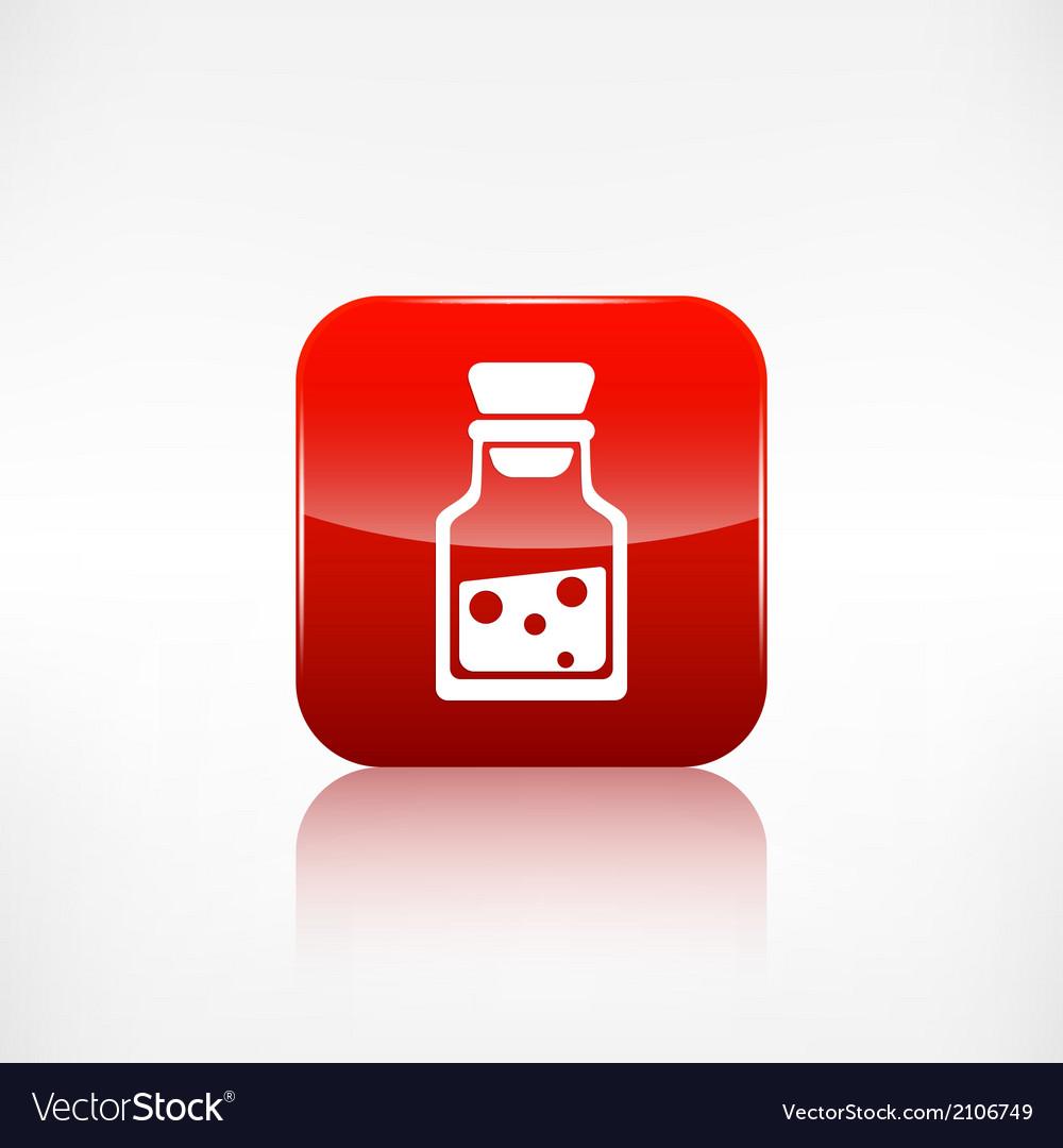 Laboratory medical flaskapplication button vector | Price: 1 Credit (USD $1)