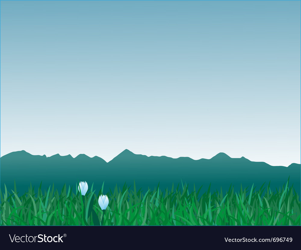 Panorama of mountains vector | Price: 1 Credit (USD $1)