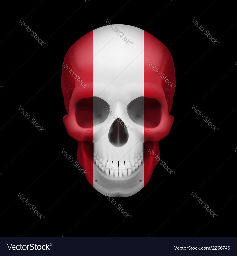 Peruvian flag skull vector | Price: 1 Credit (USD $1)